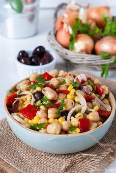 Sugar Buzz: Νηστίσιμη σαλάτα με ρεβύθια