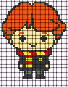 Cross Stitching, Cross Stitch Embroidery, Cross Stitch Patterns, Harry Potter Cross Stitch Pattern, Harry Potter Crochet, Modele Pixel Art, Easy Perler Bead Patterns, Pix Art, Pixel Crochet