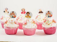 The Golden Girls party cupcake topper Birthday cupcake picks