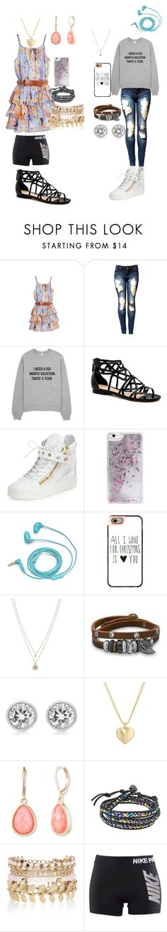 """""""How girls get guys to notice them"""" by missheru ❤ liked on Polyvore featuring GUESS by Marciano, Giuseppe Zanotti, Skinnydip, FOSSIL, Casetify, LC Lauren Conrad, BillyTheTree, Michael Kors, Finn and Vintage America"""