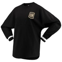 a354d8a30ee Women s LAFC Branded Black Cuffed Spirit Jersey Long Sleeve T-Shirt
