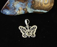 Sterling Silver Alcoholics Anonymous AA Symbol Butterfly Pendant | eBay