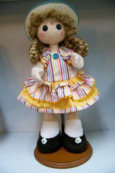 All Felt doll 14.5 inches by SmithartsArtDolls on Etsy
