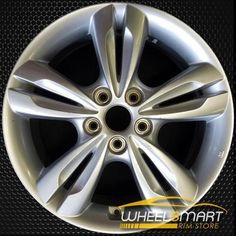 wheel 17 X 7; Medium Charcoal w//Machined Face Fits Hyundai Elantra Replacement Factory