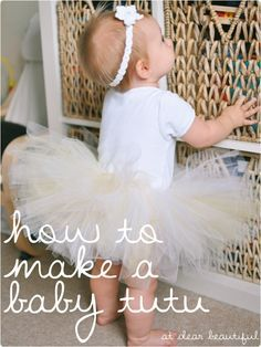 easy-peasy beautiful tutu tutorial - It's now on my list of things to do for her first birthday!