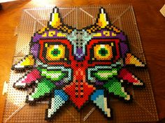 Majora's mask out of perler beads 2013