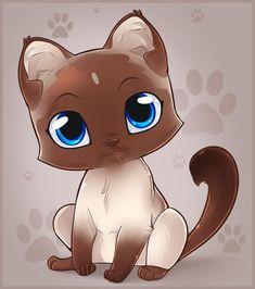 New drawing kawaii kittens 65 Ideas Anime Animals, Baby Animals, Cute Animals, Cat Kawaii, Kitten Drawing, Siamese Kittens, Curious Cat, Cute Animal Drawings, Lps