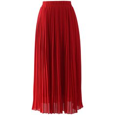 Chicwish Chiffon Pleated Maxi Skirt in Red ($42) found on Polyvore featuring women's fashion, skirts, bottoms, saias, faldas, long skirts, red, accordion pleated skirt, long chiffon skirt and pleated maxi skirt