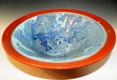 Deepblue ocean bowl wheel thrown by MarkCampbellCeramics on Etsy, $60.00