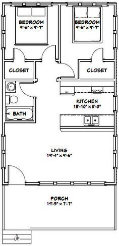 20x32 House -- #20X32H2D -- 640 sq ft - Excellent Floor Plans