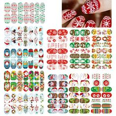 Frcolor 11 Sheets Christmas Nail Art Stickers Design Manicure Tips Decals Wraps Decoration ** Find out more about the great product at the image link. (This is an affiliate link)