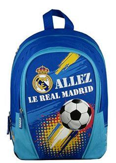 Real Madrid - Mochila Infantil, Azul, 32 cm: Amazon.es: Deportes y aire libre Real Madrid, School Bags, Backpacks, Sports, Blue, Small Backpack, Shoe, Backpack, Backpacker