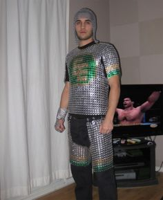 Beer can Tab Chainmail Armor Pop Can Crafts, Pop Can Tabs, Chainmail Armor, Soda Tabs, Recycle Cans, Dress Up Boxes, Pop Cans, Fancy Costumes, Chain Mail