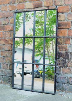 Loft design Ipari ablak tükör Industrial window mirror Industrie Fenster Spiegel