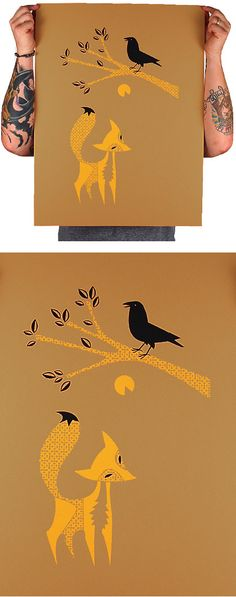 Aesop's Fables: 'The Fox and the Crow' Print
