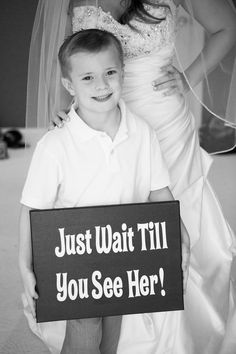 My awesome ring bearer who happened to be my cute little brother!! Along with the sign I made for the wedding:) #DIY #wedding