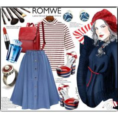 A fashion look from September 2016 by giampourasjewel featuring Prada, Borghese, MAC Cosmetics, Thierry Mugler et romwe