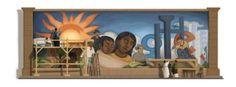 El muralista mexicano Diego Rivera homenajeado con un Doodle
