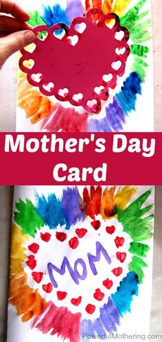 A rather simple card for Mom full of beautiful colors to warm the soul.
