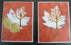 sheltering tree stampin up fall cards
