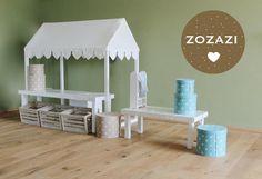 Kaufmannsladen & Küche - KAUFLADEN ♥ Bank & Hocker - ein Designerstück von Babika-Zoe bei DaWanda