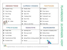 Playground Scavenger Hunt - Inspire Creativity, Reduce Chaos & Encourage Learning with Kids