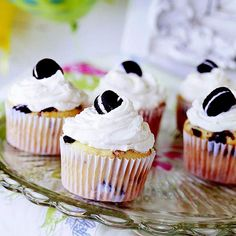 Who doesn't love cookies-and-cream? Try out this fan-favorite recipe here: http://www.bhg.com/recipes/desserts/cupcakes/our-finest-vanilla-cupcakes/?socsrc=bhgpin101313cookiesandcreamcupcakes&page=4