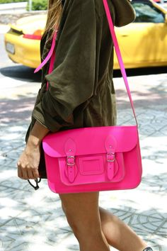 neon pink and green