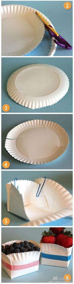 Cestas con platos de carton 01