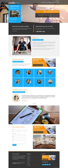 Handyman is a beautiful, content driven #weebly #template perfect for professional service websites. http://www.roomythemes.com/household-handyman-weebly-theme