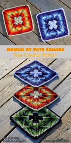 Nomad by Fate Afghan Crochet Square #freecrochetpatterns #crochetblanket #apachetears #crochetsqure