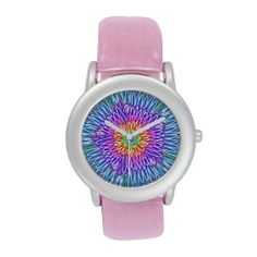 Colorful Mum Kaleidoscope Wristwatch