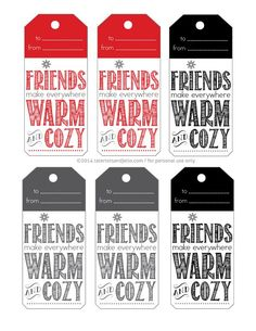 Warm and Cozy Gift Basket Ideas and Free Printable Holiday Gift Tags! - Tatertots and Jello Warm and Cozy Gift Basket Ideas and Free Printable Holiday Gift Tags! – Tatertots and Jello Christmas Gifts For Parents, Neighbor Christmas Gifts, Christmas Gift Tags Printable, Diy Holiday Gifts, Christmas Crafts For Gifts, Neighbor Gifts, Christmas Diy, Hostess Gifts, Printable Tags