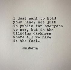 ♥️ We hold hands at night as we fall asleep. I have never been more in love!