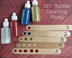 Craft Stick Tactile Counting Game from Where Imagination Grows
