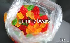 The red and white ones are my faves, but I've never met a gummy bear I didn't love! :) #candy #simple_joys