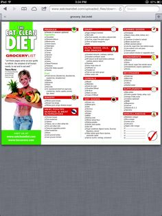 Tosca Reno's Eat Clean Diet grocery list!