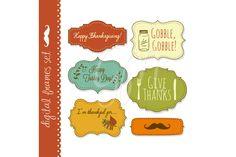 18 Thanksgiving Frames, backgrounds by GraphicMarket on @creativemarket https://crmrkt.com/AkKAd