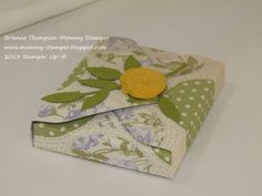 Envelope Punch Board, Afternoon Picnic DSP, Stampin' Up!, Simply Pressed Clay www.mommy-stamper.blogspot.com