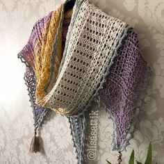 Pattern download includes the Swedish translation as well as the English version Two versions of the Wisteria Way Shawl are included in this PDF pattern download, the first option is using one whole Scheepjes Whirl, it is worked from side-to-side, starting at the narrowest point,