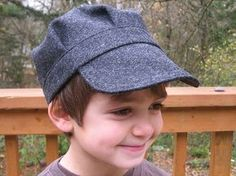 Make an adorable cap for your little boy! This tute helped me learn about hat making in general :)
