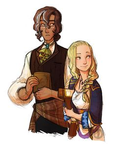 Kandor and Polly: The prefects/RAs of the magic school. Kandor is the quiet Magic History major and Polly is the outgoing Transmutation major. Character Bank, Character Concept, Concept Art, Story Inspiration, Character Inspiration, Character Ideas, Story Ideas, Dnd Characters, Female Characters