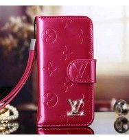 Louis Vuitton iPhone 6 and iPhone 6 Plus Magenta Case LV Vernis Wallet Cover 2015 - Store For Case