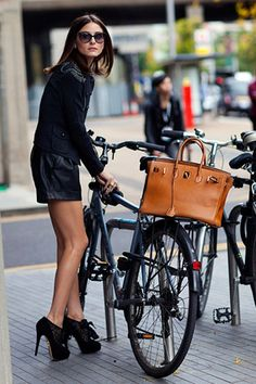 """Olivia Palermo. We recently used this in a presentation to make the point that some """"high-visibility"""" outfits are more attention-getting than others."""