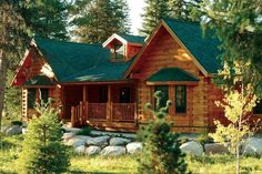 My Dream Cabin!! Log Cabin Living, Log Cabin Homes, Log Cabins, Mountain Dream Homes, Getaway Cabins, Timber House, Cabins And Cottages, Cottage Design, Stone Houses