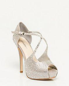 06956403bea5 Jeweled Satin Platform Sandal Party Shoes