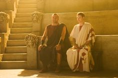 Rome - Titus Pullo and Octavian Rome Tv Series, Hbo Series, Series Movies, Rome Hbo, Indira Varma, Ray Stevenson, Roman Clothes, Roman Fashion, Roman History