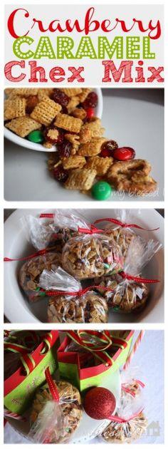 Cranberry Caramel Chex Mix | MyBlessedLife #gift #christmas