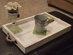 Wooden Tray, Rustic Wooden Tray, Wooden Ottoman Tray, Ottoman Tray, White Washed by WhereTheSycamoreGrow on Etsy https://www.etsy.com/uk/listing/251937040/wooden-tray-rustic-wooden-tray-wooden