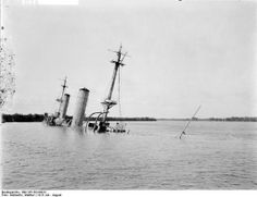 SMS Knigsberg sinking into the Rufiji river bottom